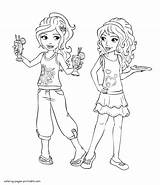 Friends Coloring Pages Lego Mia Printable Olivia Colouring Friend Larger Credit sketch template