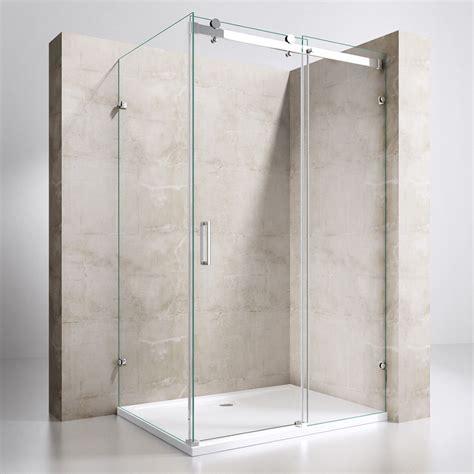 duschkabine mit schiebetür duschkabine dusche duschabtrennung kabine schiebet 252 r glas duschtasse nano esg ebay