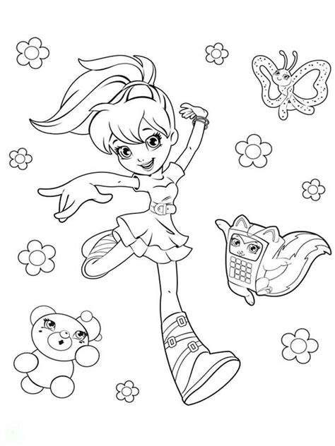polly pocket coloring pages  printable polly pocket