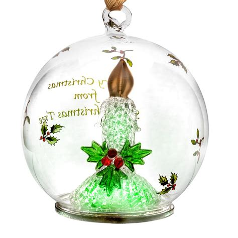spode candle glass led christmas ornament silversuperstore