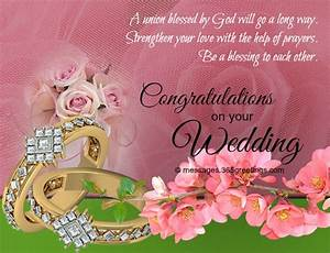 wedding wishes and messages 365greetingscom With wedding cards sayings congratulations