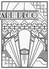 Deco Coloring Pages Adults Poster Adult 1920s Sheets Nouveau Print Printable Colouring Getcolorings Motifs Template sketch template