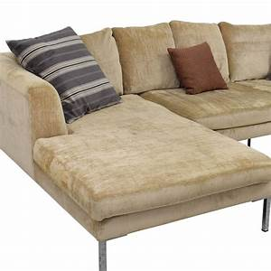 85 off modani modani beige sectional sofa sofas for Modani sofa bed