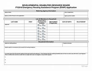 Emergency Housing Assistance Application -fy18
