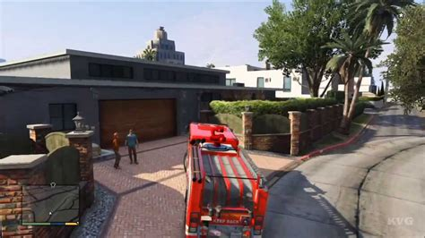 Grand Theft Auto 5 Fire Truck Driving Gameplay Hd