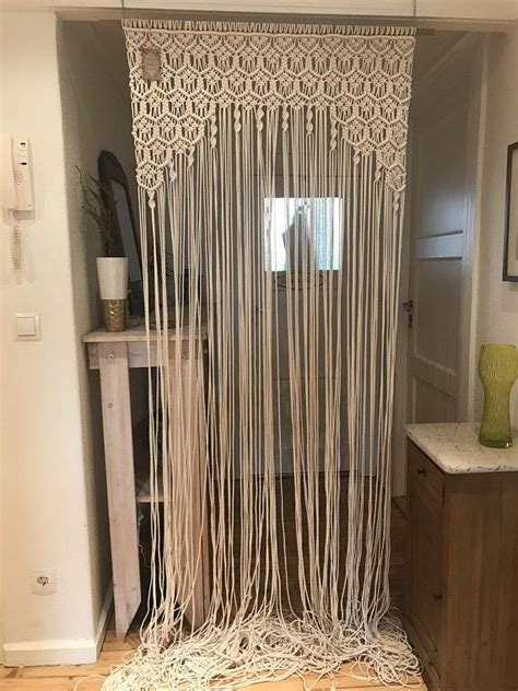 macrame curtain room divider wall hanging wedding ceremony