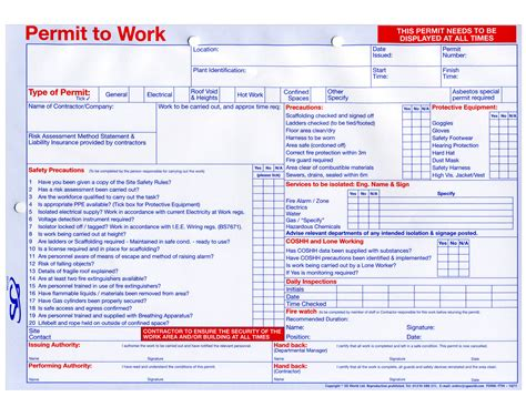 Working At Height Permit To Work Template - Costumepartyrun