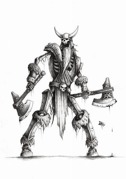 Draugr Skyrim Warrior Skeleton Tattoo Designs Mythology