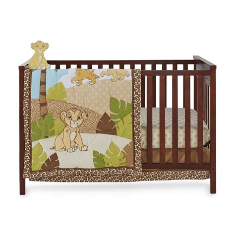 Disney The Lion King 4piece Crib Bedding Set Simba