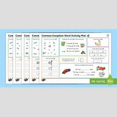 * New * Year 1 Common Exception Word Activity Mat Pack 2  Y1, Ks1, Morning