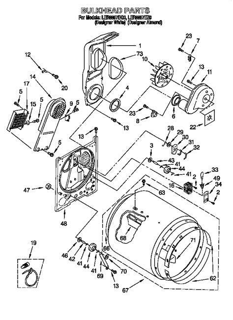 diagram parts list  model lereq whirlpool parts