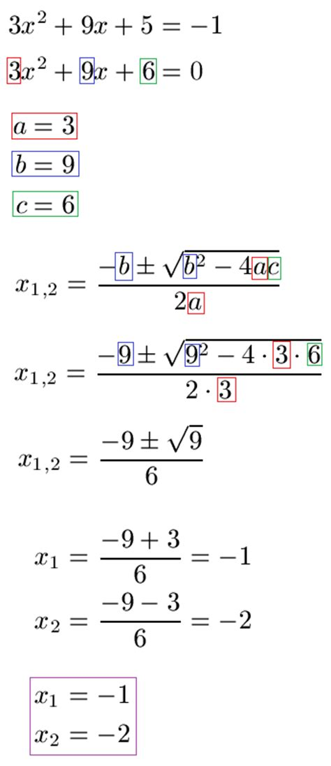 nullstellen quadratische funktion gleichung