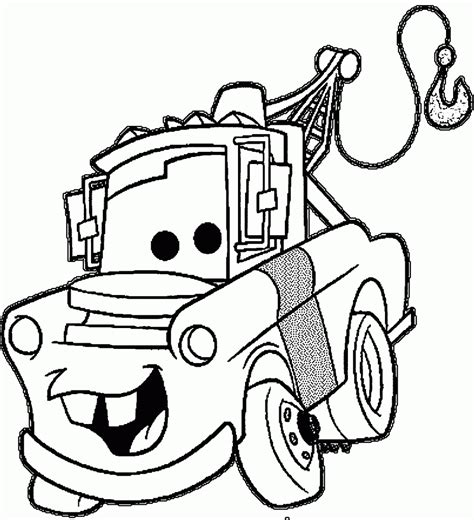 tow mater coloring page  getcoloringscom  printable colorings pages  print  color