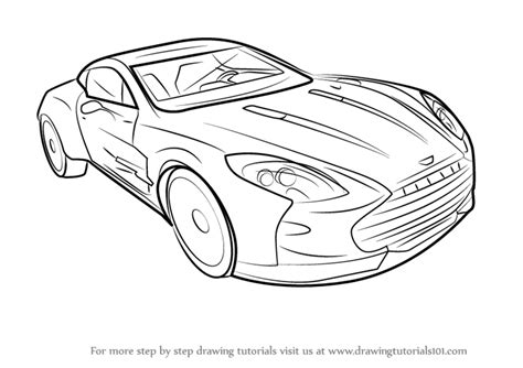Step By Step How To Draw Aston Martin One-77