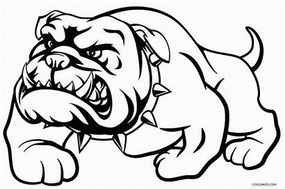 Coloring Pages Dog Bulldog Printable