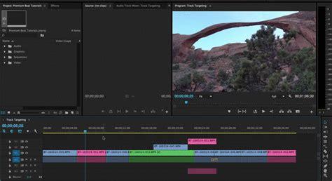 track targeting  navigate premiere pros timeline