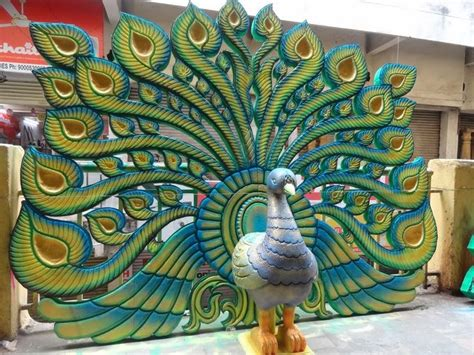 thermocol craft  peacock model vbabji hyderabad