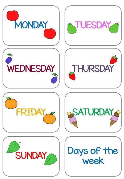 days   week flashcards  updated english