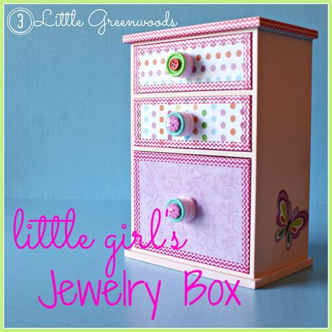 Upcycled Little Girl's Jewelry Box - 3 Little Greenwoods
