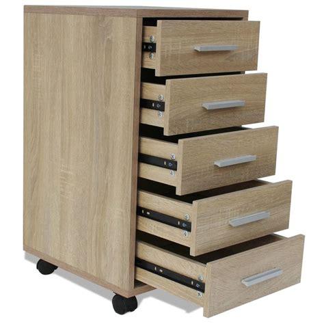 bureau tiroir acheter vidaxl caisson à tiroir de bureau avec roulettes 5