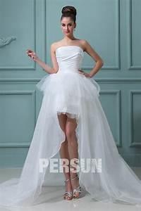 robe de mariee bustier a jupe evasee et asymetrique With persun robe de mariée