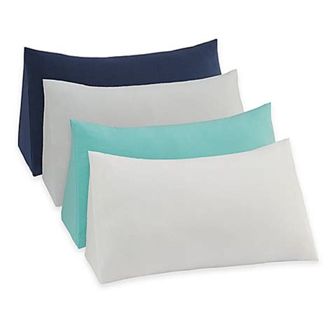bed bath beyond pillows therapedic 174 reading wedge pillow knit cover bed bath