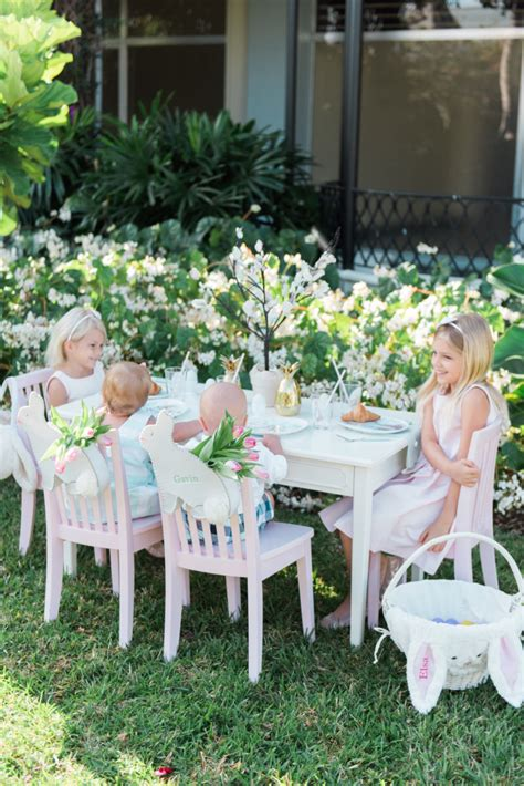 easter kids table with pottery barn kids palm lately