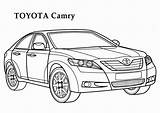 Coloring Toyota Camry Cars Factory Printable Samochody Colorare Colorear Colorine Autos Hero Drawing Auta Corolla Drawings Dibujos Mopar Coches Adult sketch template
