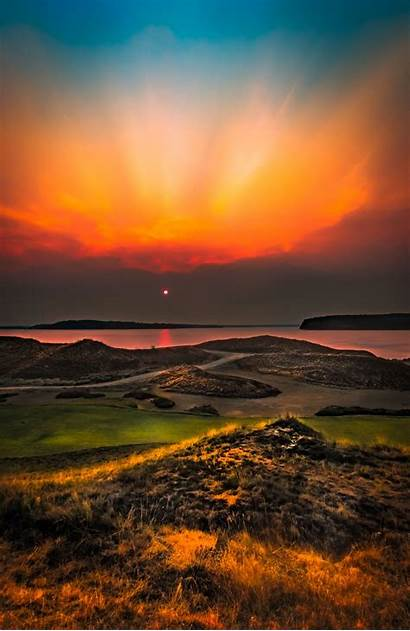 Sunset Nature Amazing Chambers Bay Landscapes Forest