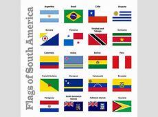 Vlaggen van ZuidAmerika stock illustratie Illustratie