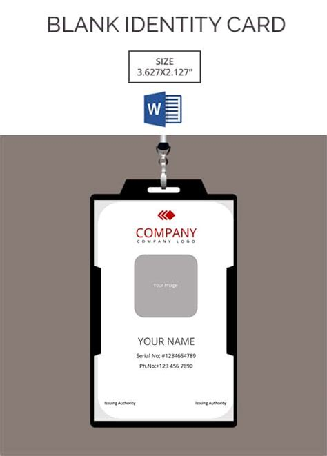 blank id card templates  word psd eps formats