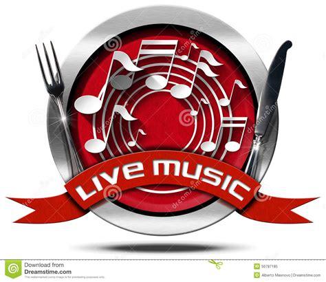 Live Music And Food   Metal Icon Stock Illustration   Image: 50787185