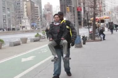 video comedian takes  ride  uws   rock