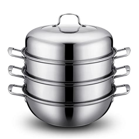 free shpping 4 layers stainless cooking double boiler reviews online shopping cooking