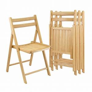 Amazon com - Winsome Wood Folding Chairs, Natural Finish
