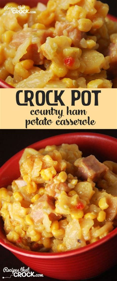 Country Ham Potato Casserole {crock Pot}  Recipes That Crock
