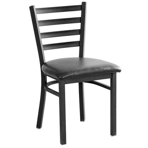 black ladder back chairs with seats black metal ladder back chair with black vinyl seat 9771