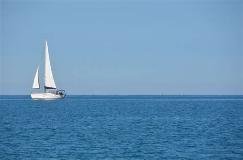 Sailboat On Water by Free Photo Sea Boat Sailboat Blue Free Image