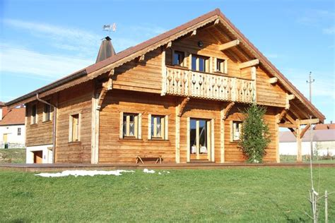 chalet en bois jura maisons bois doubs