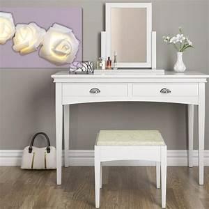 Coiffeuse Moderne Avec Miroir : coiffeuse moderne avec 2 tiroirs cielterre commerce ~ Teatrodelosmanantiales.com Idées de Décoration