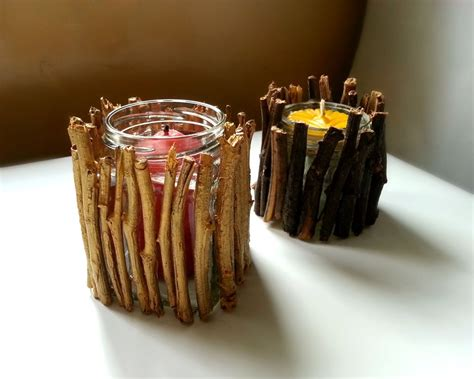 twig candle holder 8 easy diy wood candle holders for some rustic warmth this