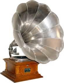 design plattenspieler neo gramophone silver horn steunk style plattenspieler design