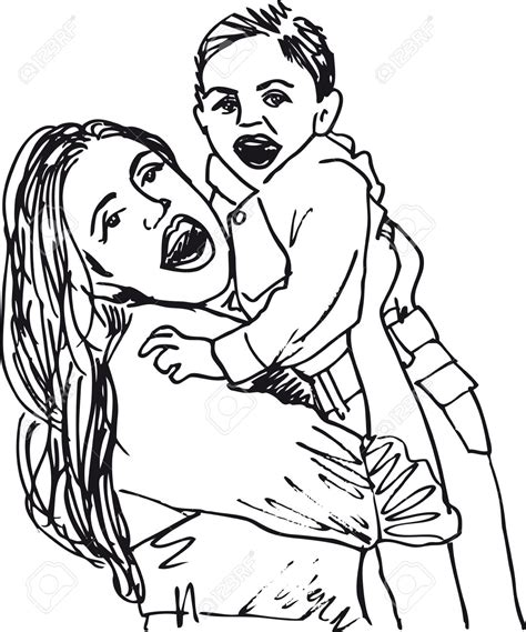 single parent family clipart black and white single parent family clipart black and white