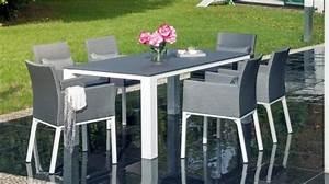 Table De Jardin : table de jardin florence 180cm gris ~ Teatrodelosmanantiales.com Idées de Décoration