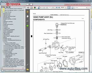 Toyota Dyna 100  150  Repair Manuals Download  Wiring Diagram  Electronic Parts Catalog  Epc