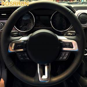 AOSRRUN Car styling Leather Hand stitched Car Steering ...