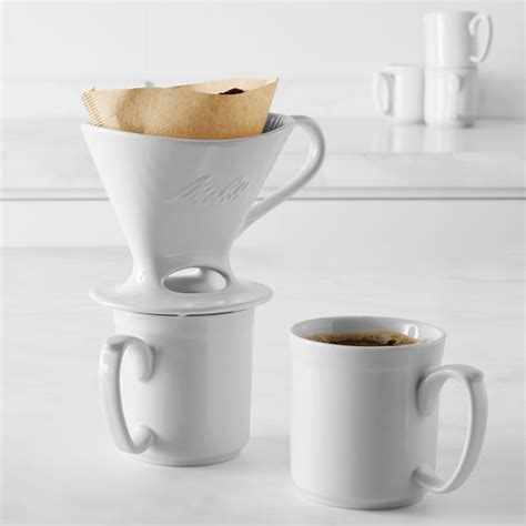 This simplicity and ease of use is part of the appeal of this brewing method. Melitta Porcelain Pour-Over Coffee Maker   Williams Sonoma