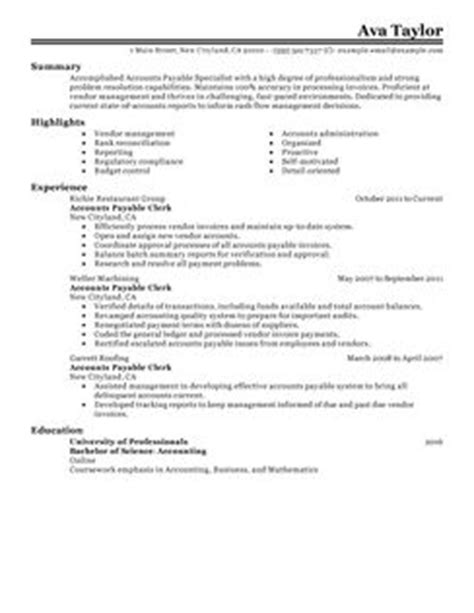 Loan Specialist Resume Objective by 10 Accounts Payable Specialist Resume Sle Writing