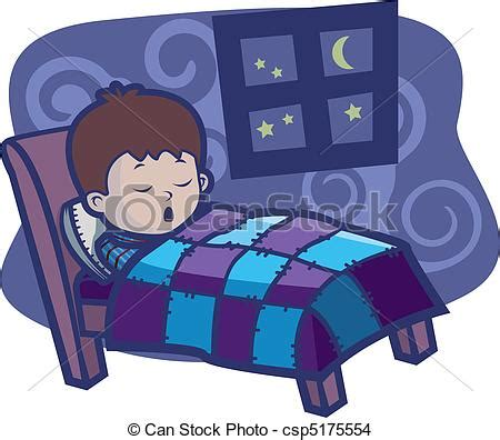 kid going to bed clipart eps vector of boy sleeping a boy sleeping in a