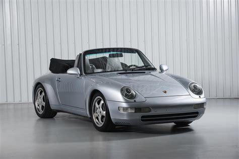silver porsche carrera 1995 porsche 911 carrera cabriolet 993 polar silver
